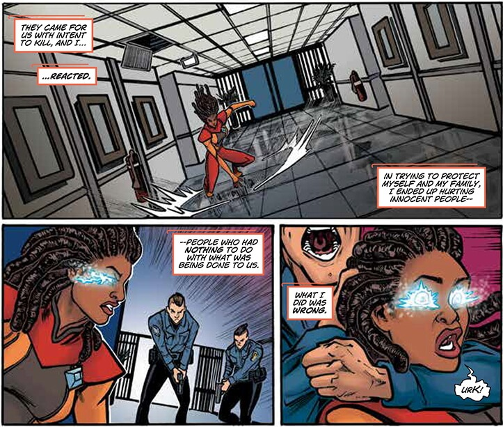 Livewire narrates a simplified version of events from Harbinger Wars 2. By Vita Ayala and Tana Ford.