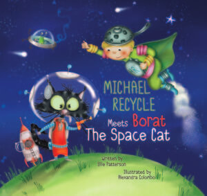 Michael Recycle Meets Borat, The Space Cat Cover A. May 2020. IDW Publishing