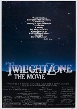 A night sky with the words Twilight Zone: The Movie