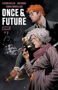 Once and Future #7, BOOM! Studios, March 2020, cover by Dan Mora