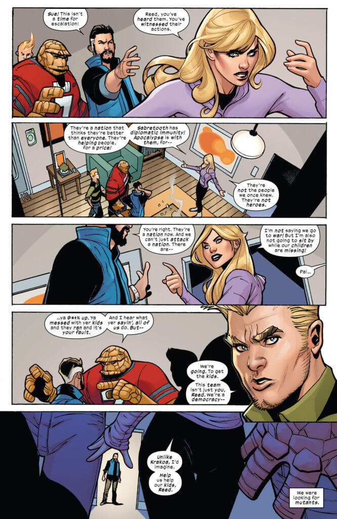 The Fantastic Four claim that the X-Men arent the heroes they us used to know