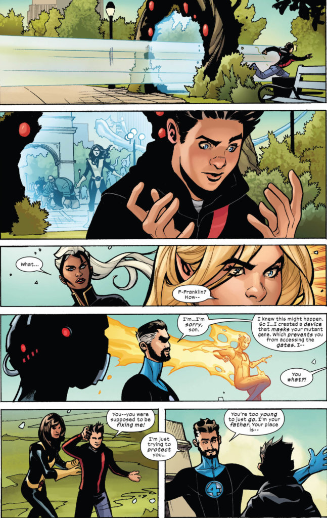 Full page: Franklin RIchards fails to use a Krakoan gate
