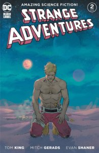 Sad shirtless dad Adam Strange