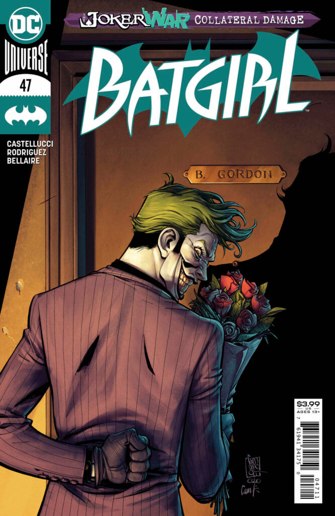 Joker knocking on Barbara Gordon's door