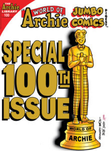 Archie Andrews - a typical teenager - is depicted as a golden statuette
