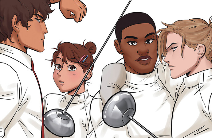 crop of the cover of fence:rivals