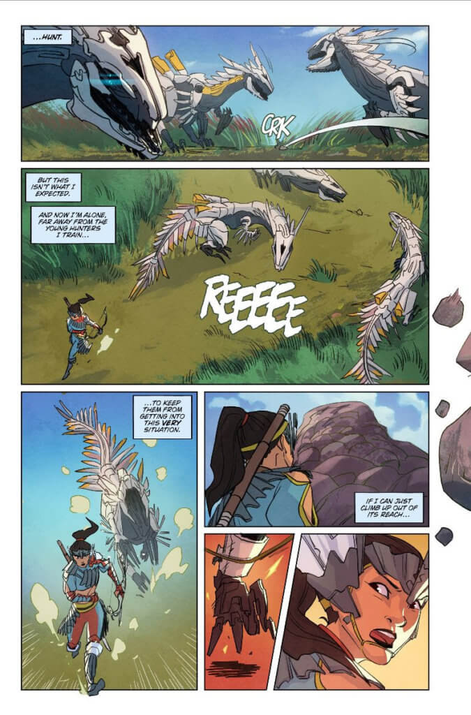 A preview page from the upcoming Horizon Zero Dawn #1