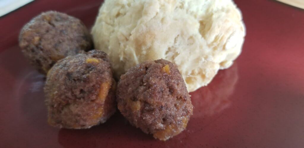 Pemmican balls and bannock