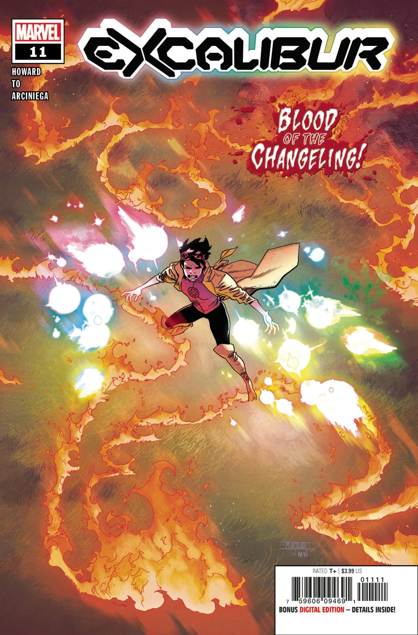 Excalibur #11 cover with Jubilee blowing things up