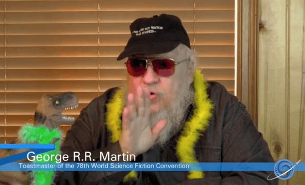 George R. R. Martin presenting the 2020 Hugo Awards.
