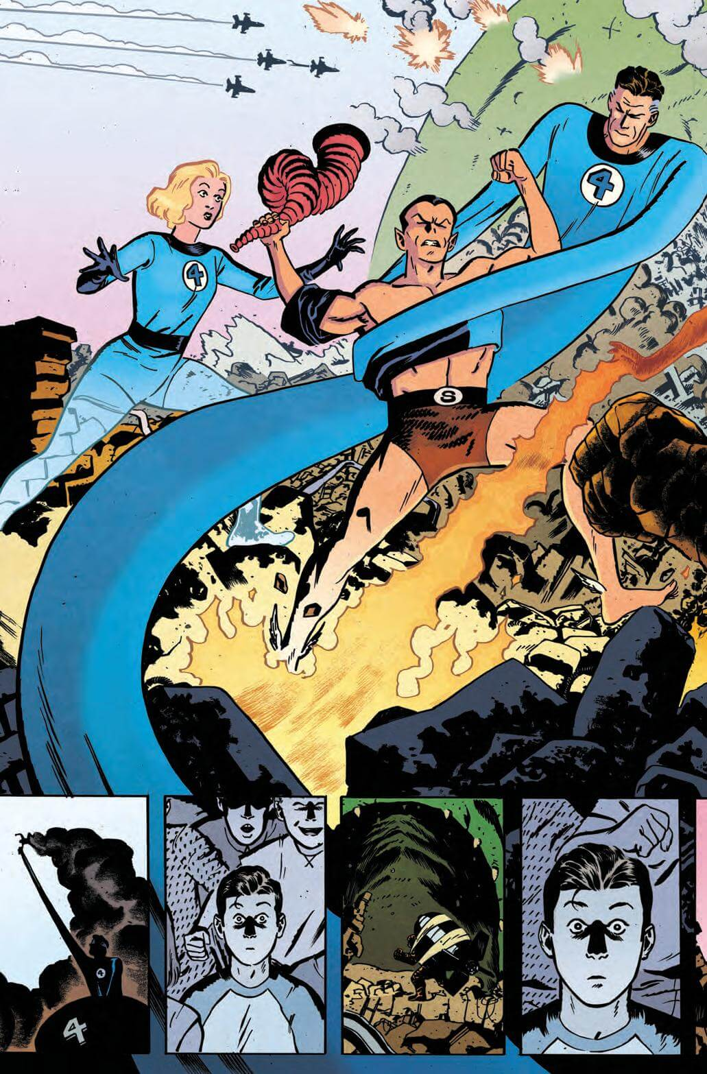Full Page: Scott Summers Watches the Fantastic Four Fight Namor on TV