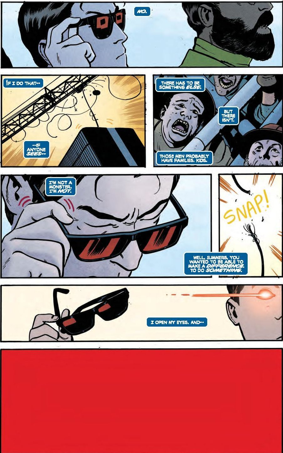 Full Page: Scott decides to reveal his powers and help.