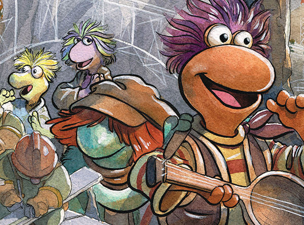 Cover for Down at Fraggle Rock C Boom!Studios/Archaia 2020