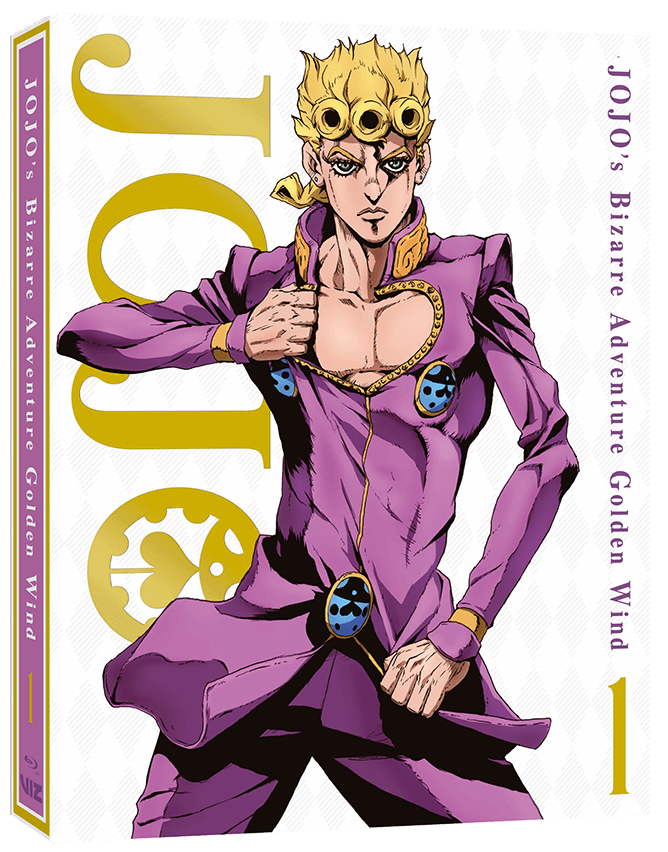 cover of the blu-ray for jojo golden wind part 1.