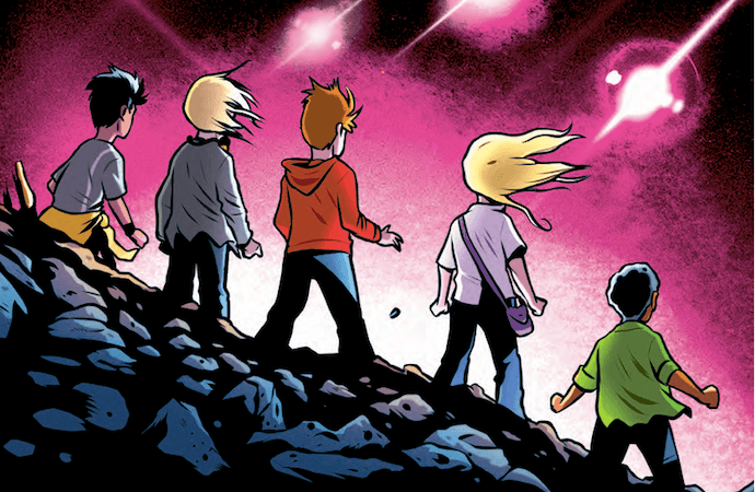 Crop from cover of Animorphs the Invasion graphic novel adapted by Chris Grine
