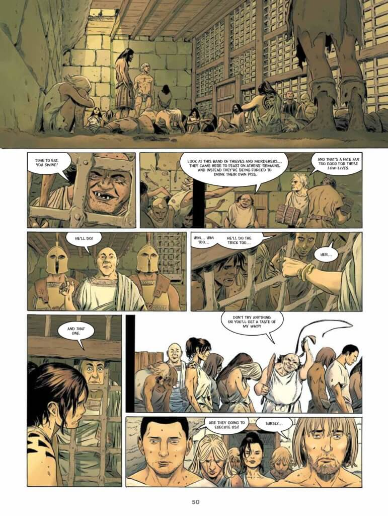pages from Fire of Theseus (Humanoids, 2020)