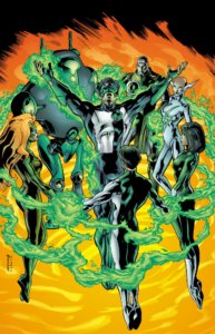 Kyle Rayner with a new Green Lantern Corps