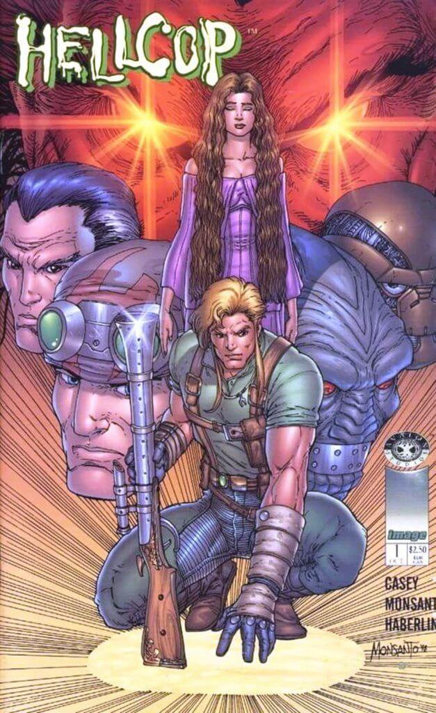 Hellcop cover, Joe Casey, Golbert Monsanto, Brian Haberlin, 1998, Avalon Studios for Image Comics