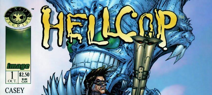 Hellcop banner image Todd McFarlane cover #1 1998 Avalon Studios for Image Comics