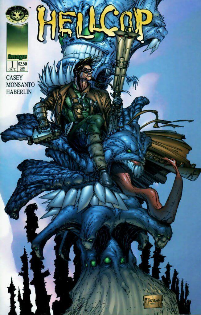 Todd McFarlane Hellcop #1 cover, Joe Casey, Golbert Monsanto, Brian Haberlin, 1998, Avalon Studios for Image Comics