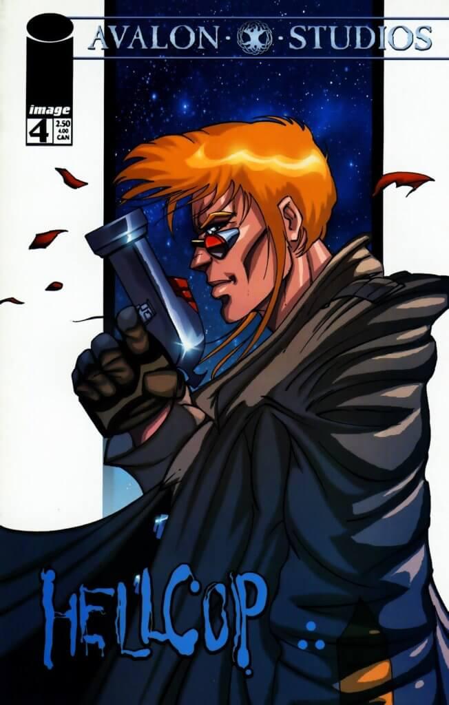 Hellcop #4 cover, Joe Casey, Golbert Monsanto, Brian Haberlin, 1998, Avalon Studios for Image Comics