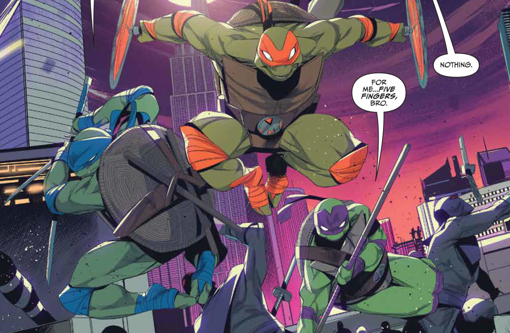 Ninja Turtles Leaping Into Action