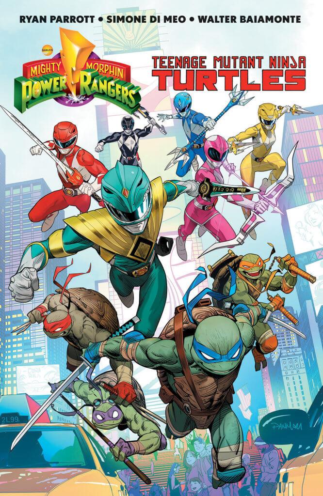 Power Rangers and Ninja Turtles Posing