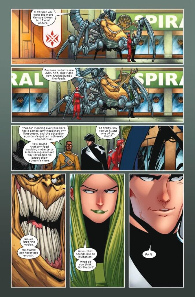 X-Factor 2 (2020) Interior Art Page, by Leah Williams and David Baldeon
