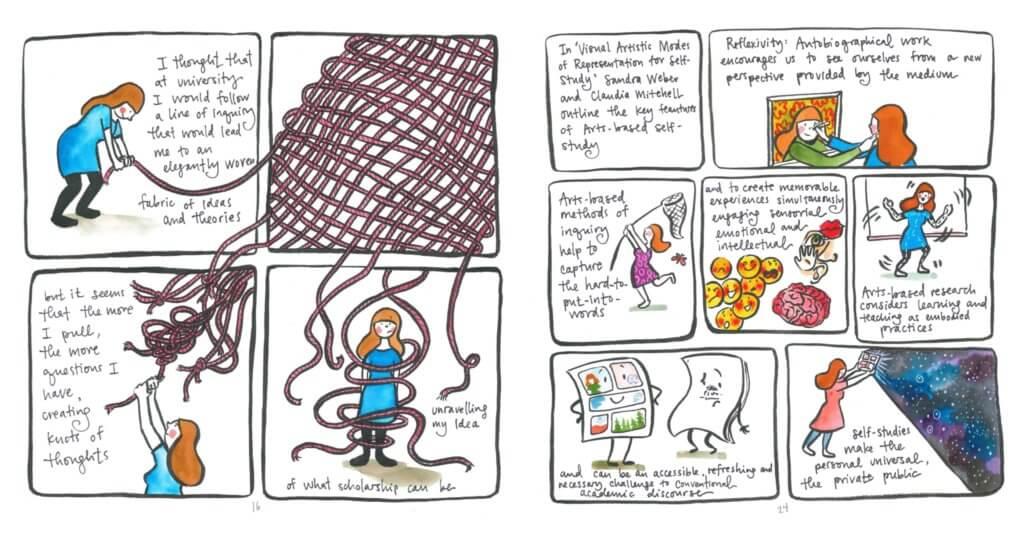 "Panels excerpted from Meghan Parker's ""Art Teacher in Progress."""