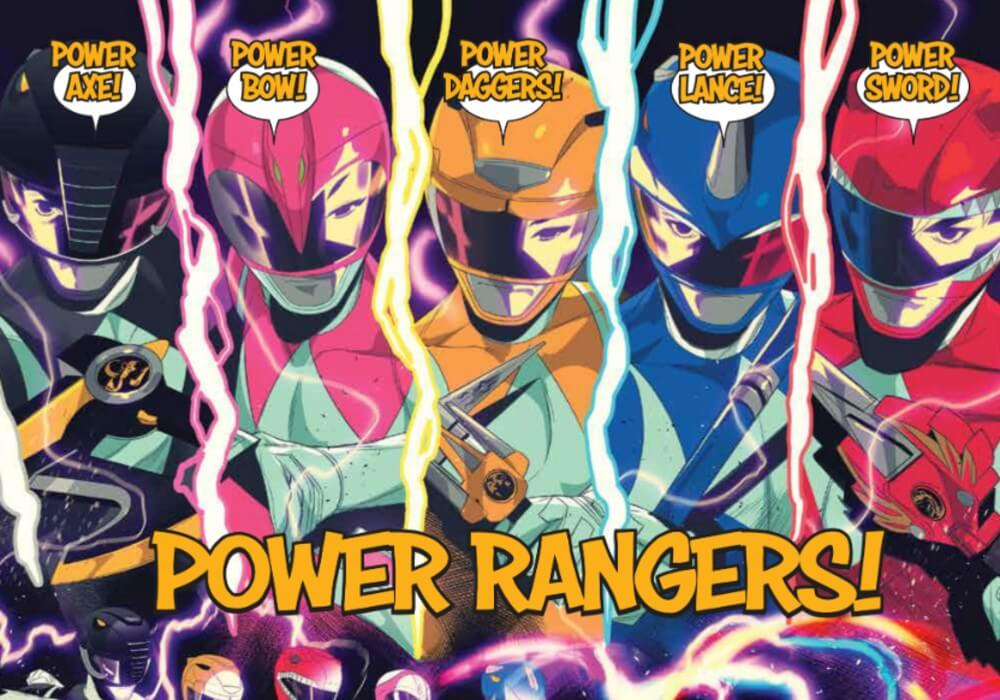 Power Rangers Using The Dino Blaster
