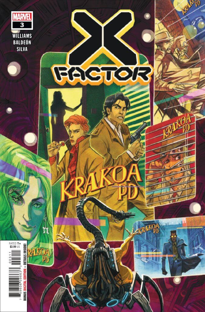 Cover to X-Factor (2020) #3 by Ivan Shavrin, Leah Williams, David Baldeon, and Israel Silva