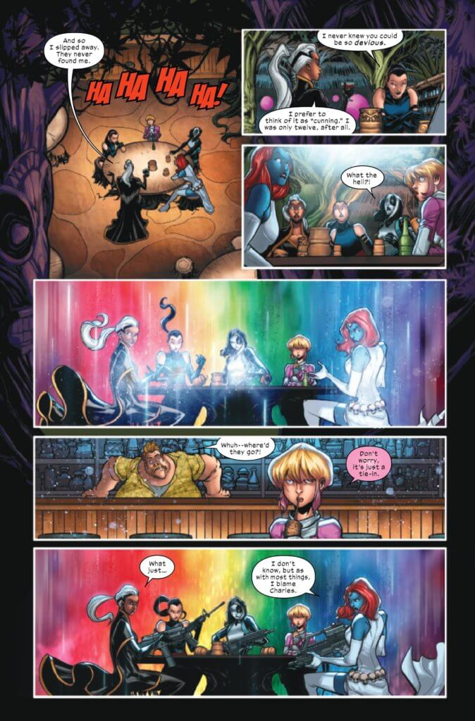 Page 27 of X-Factor (2020) Issue 3 by Williams, Baldeon, Silva, Shavrin, Muller, and Caramagna, with a cliffhanger leading into X of Swords