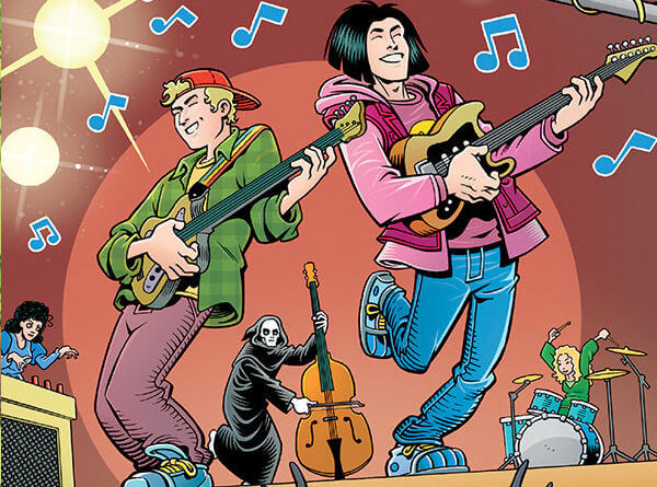 detail shot for Bill and Ted Are Doomed C 2020 Dark Horse Comics