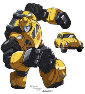 Bumblebee artwork showing the yellow and black transformer