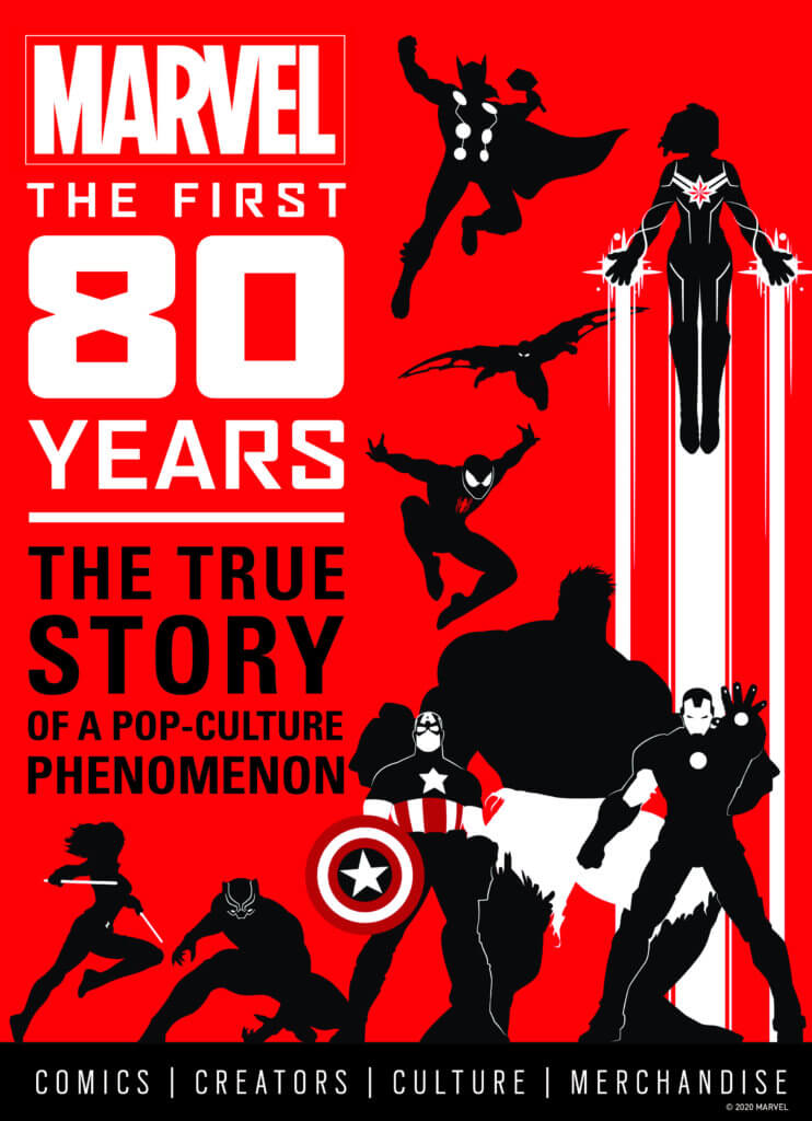 Cover of Marvel: The First 80 Years (Titan Comics, November 17, 2020)