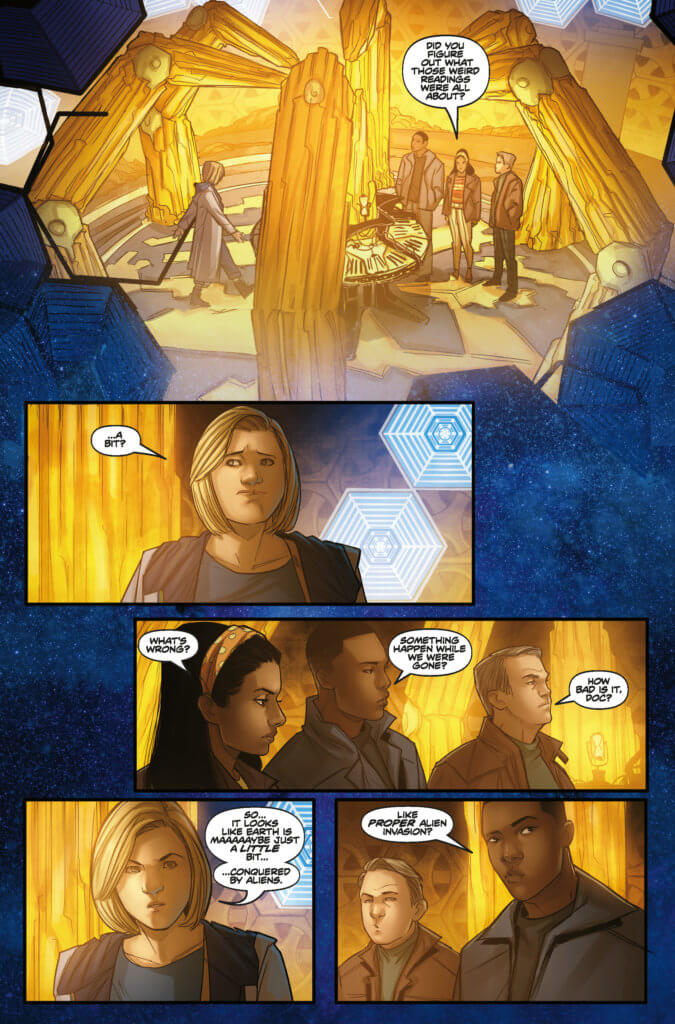 A preview page from the upcoming Doctor Who #1