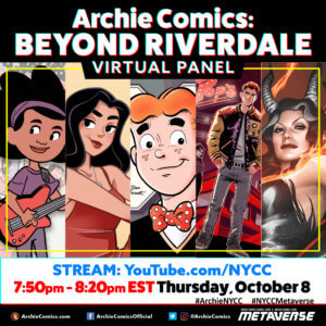 An advertising banner fo the Archie Comics BEyond Riverdale Virtual Panel