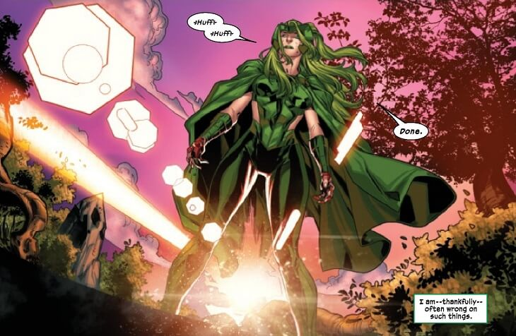 Banner for X-Factor 4 (2020) showing Polaris standing triumphantly