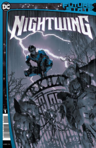 Nightwing on the Arkham gate