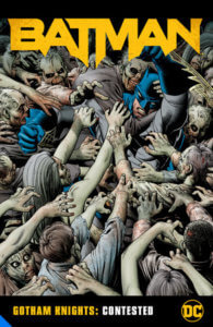 Batman in a horde of zombies