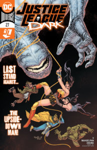 Justice League Dark fighting the Upsidedown Man