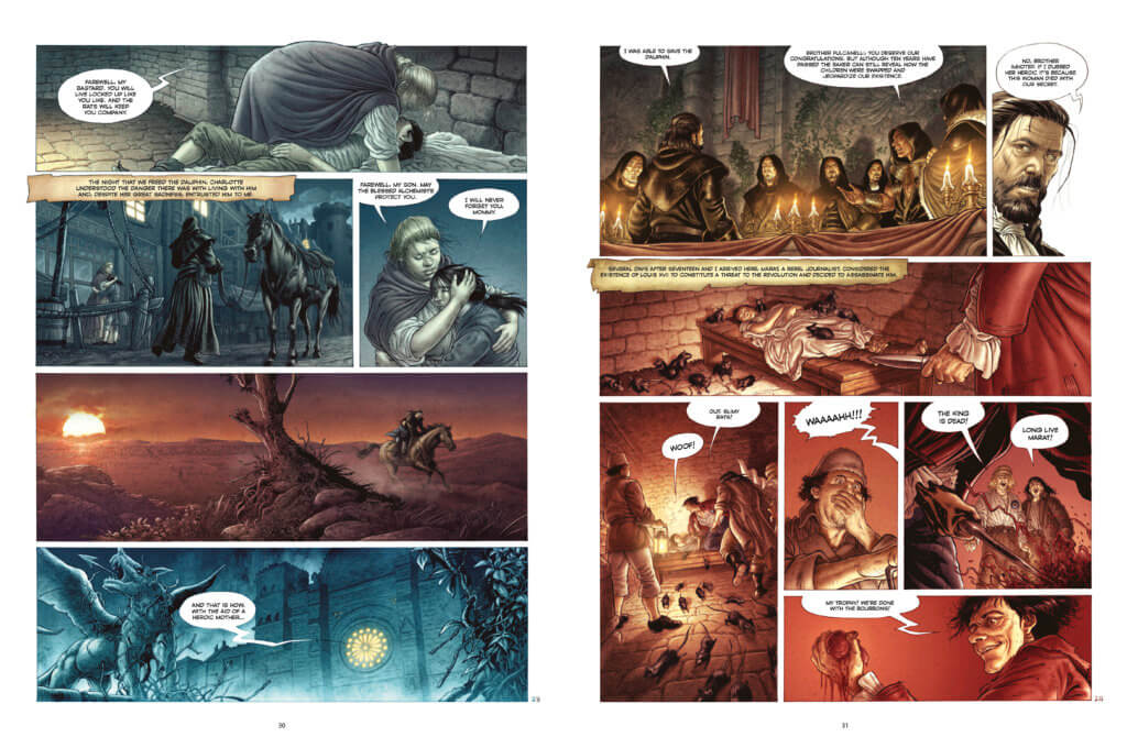 A preview page from the upcoming The Knights of Heliopolis graphic novel