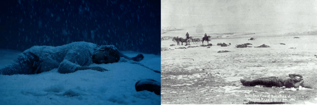 New Mutants and Wounded Knee Massacre image comparisons.