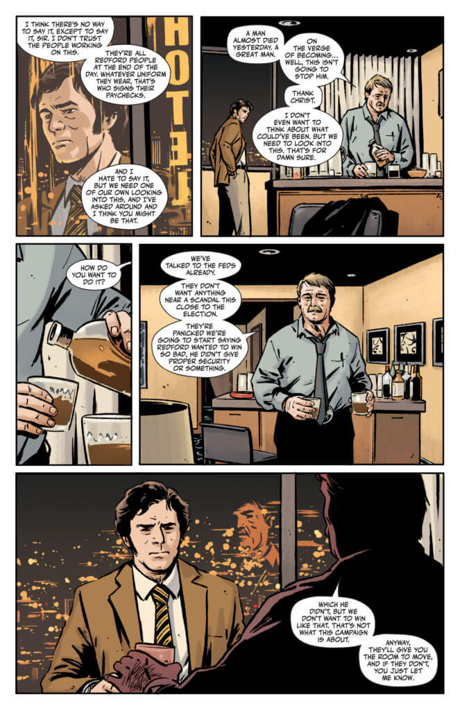 Rorschach #1 page 4 - Two federal agents talking over coffee