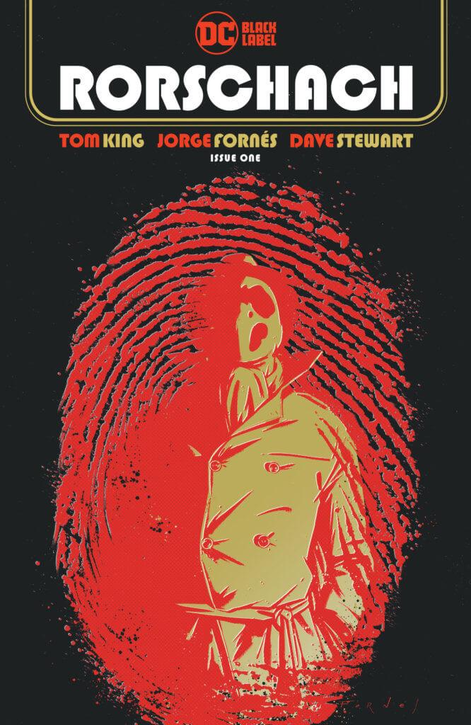 Rorschach #1 cover by Fornés - Rorschach in a thumbprint