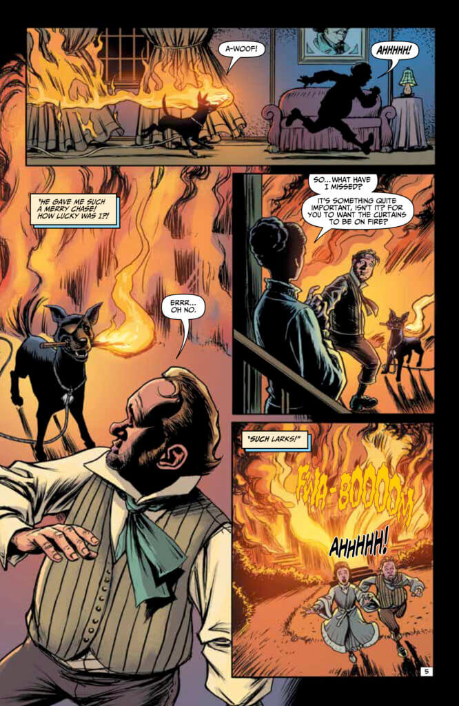 Panels from Edgar Allan Poe's Snifter of Blood #1 (Ahoy Comics, October 2020)
