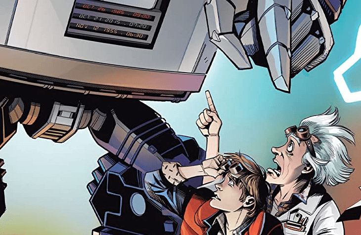 Preview Art for Back to the Future/Transformers #1 C IDW Comics October 2020