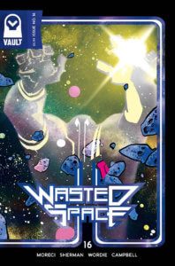 Cover of Wasted Space #16 (Vault Comics, October 2020)