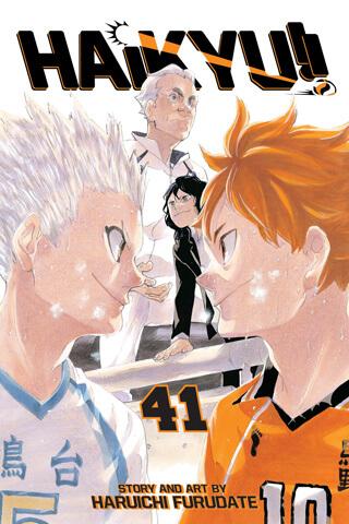 cover of Haikyu volume 41 showing Hinata and Hoshiumi facing off.