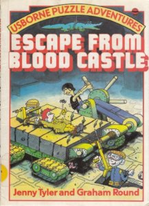 Escape from Blood Castle cover, Graham Round, Usboune, 1984